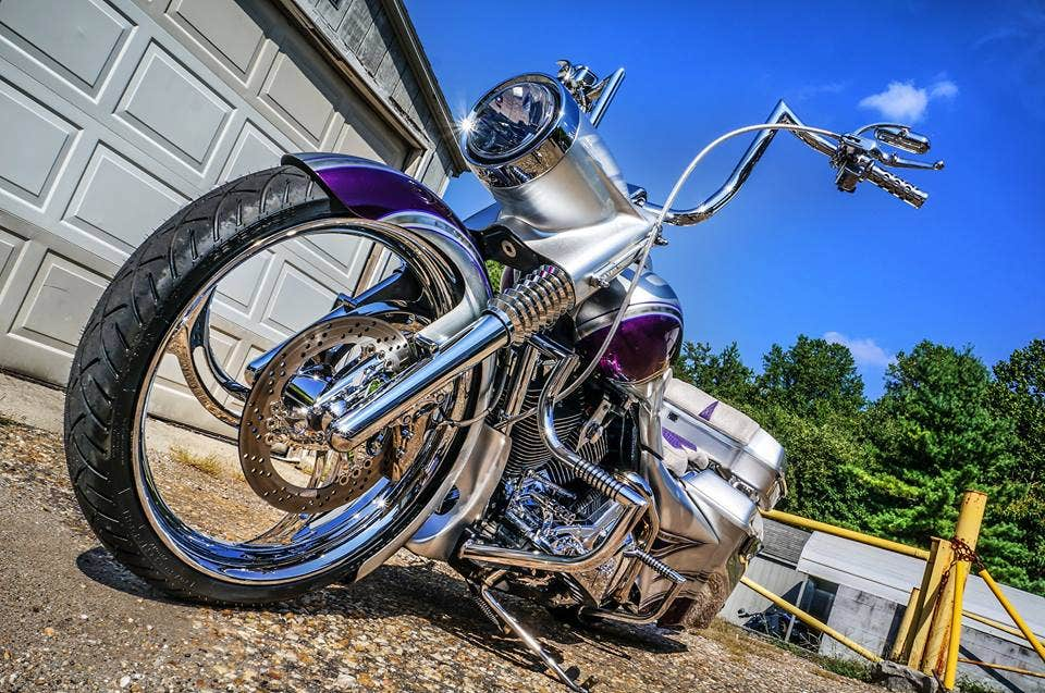 2007 Full_Custom_Silver_Road_King